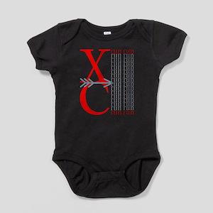 XC Run Red Gray Baby Bodysuit
