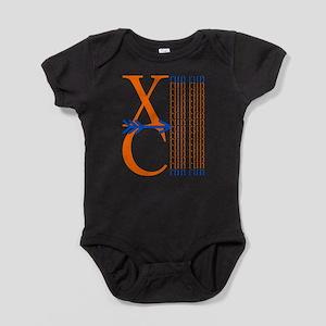 XC Run Orange Royal Blue Baby Bodysuit