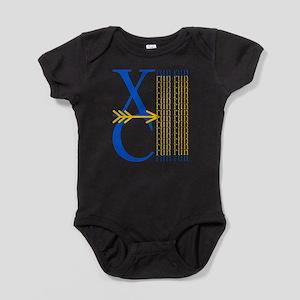 XCrunRoyBlGld Baby Bodysuit