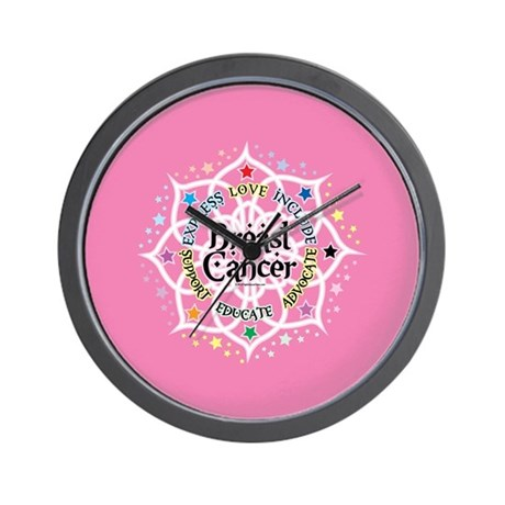 Breast Cancer Lotus Wall Clock By Mattmckendrick