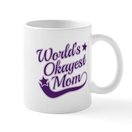 World's Okayest Mom Purple Mug