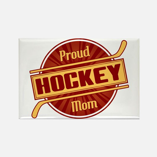 Proud Hockey Mom Rectangle Magnet