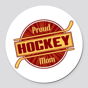 Proud Hockey Mom Round Car Magnet