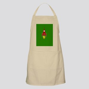 red rocket ship Apron