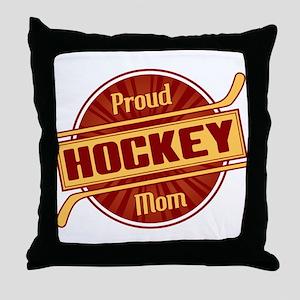 Proud Hockey Mom Throw Pillow