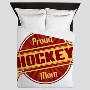 Proud Hockey Mom Queen Duvet