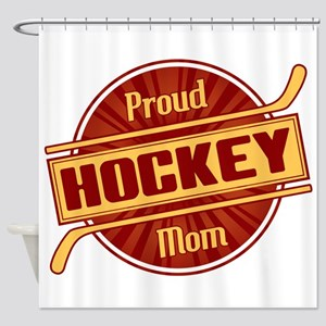 Proud Hockey Mom Shower Curtain
