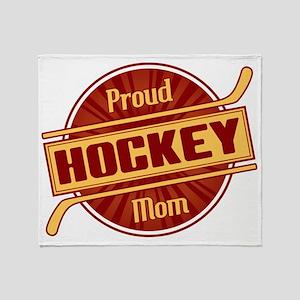 Proud Hockey Mom Throw Blanket