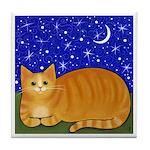 Orange Tabby CAT Art Tile