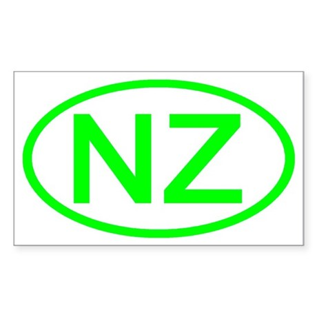 New Zealand - NZ Oval Rectangle Sticker