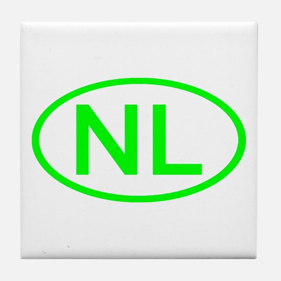 Netherlands - NL Oval Tile Coaster