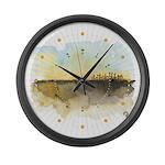 The Woods III Large Wall Clock