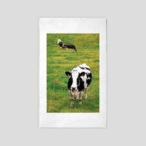 Holstein dairy cattle 3'x5' Area Rug