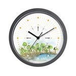 Trees by the sea 1 Wall Clock