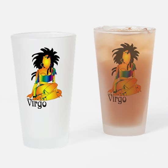 Whimsical Virgo Drinking Glass