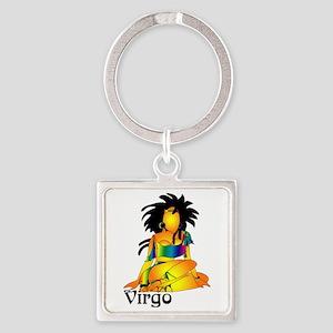 Whimsical Virgo Square Keychain