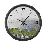 As Above So Below #5 Large Wall Clock with hours