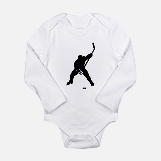 Hockey Player Long Sleeve Infant Bodysuit