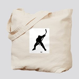 Hockey Player Tote Bag