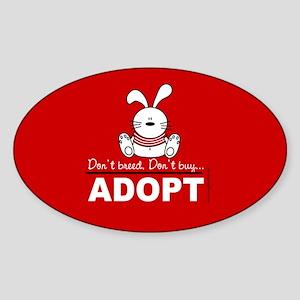 Adopt a bunny Oval Sticker