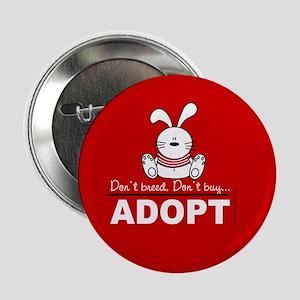 Adopt a bunny Button
