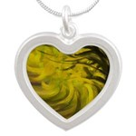 Forest #3 DA Silver Heart Necklace