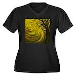 forest #3DA Women's Plus Size V-Neck Dark T-Shirt
