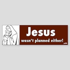 Prolife Jesus Bumper Sticker