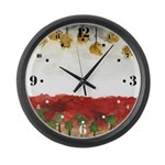 As Above So Below #3 Large Wall Clock with hours