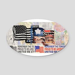 Remember 911 Oval Car Magnet