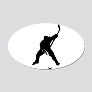 Hockey Player 20x12 Oval Wall Decal