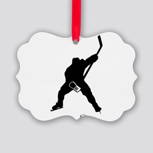 Hockey Player Picture Ornament