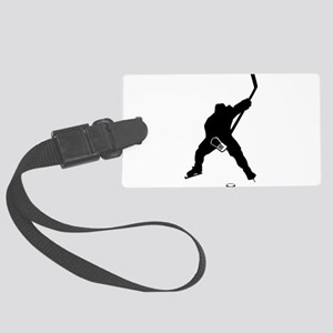 Hockey Player Large Luggage Tag