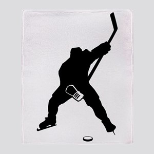 Hockey Player Throw Blanket