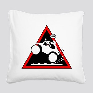 BAJA BUG WHEELIES Danger Square Canvas Pillow