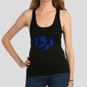 Blue 13.1 half-marathon Racerback Tank Top