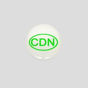 Canada - CDN Oval Mini Button
