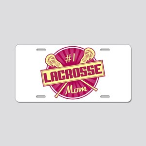 #1 Lacrosse Mom Aluminum License Plate