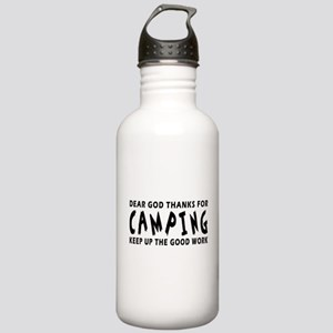 Dear God Thanks For Camping Stainless Water Bottle