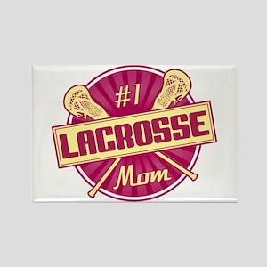 #1 Lacrosse Mom Rectangle Magnet