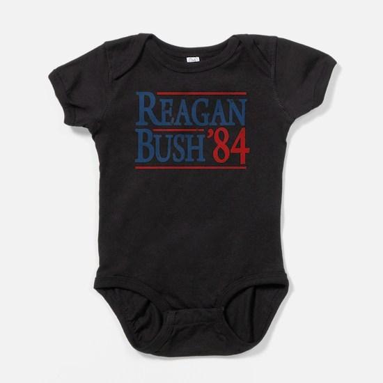 Bush Regan 84 dark tee.png Baby Bodysuit