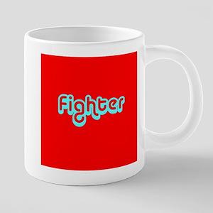 Cancer Fighter Red Designer Mugs