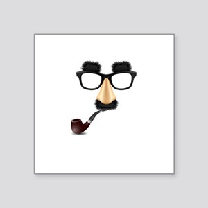 Groucho mustache pipe Sticker