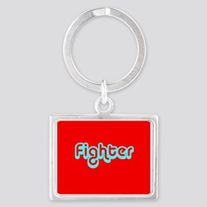 Cancer Fighter Red Aluminum Keychain Key Keychains