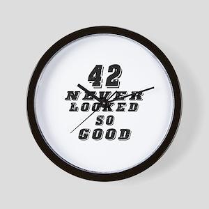 42 Birthday Designs Wall Clock
