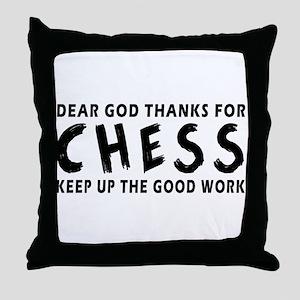 Dear God Thanks For Chess Throw Pillow