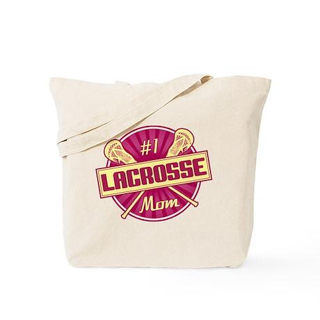#1 Lacrosse Mom Tote Bag