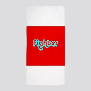 Cancer Fighter Red 4Joanie Beach Towel