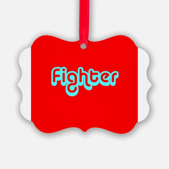 Cancer Fighter Red 4Joanie Ornament