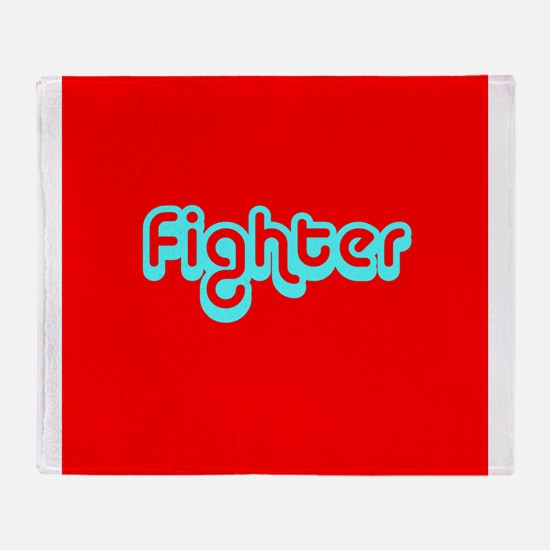 Cancer Fighter Red 4Joanie Throw Blanket